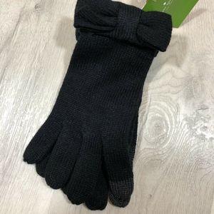 Kate Spade New York Women's Black Bow Touch Gloves